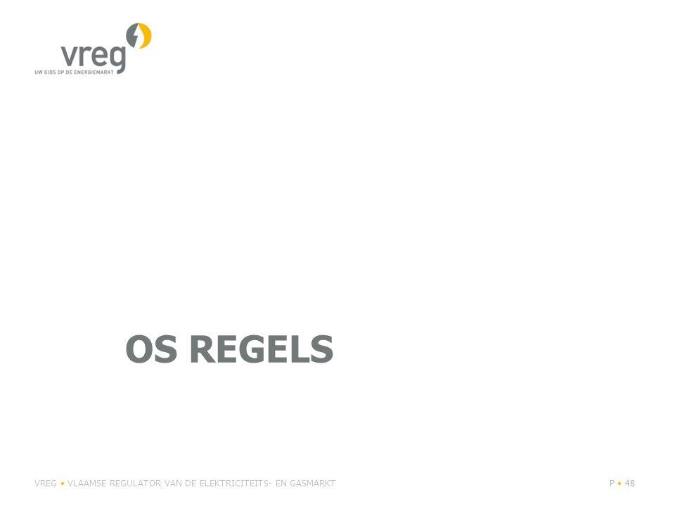 OS REGELS VREG VLAAMSE REGULATOR VAN DE ELEKTRICITEITS- EN GASMARKTP 48