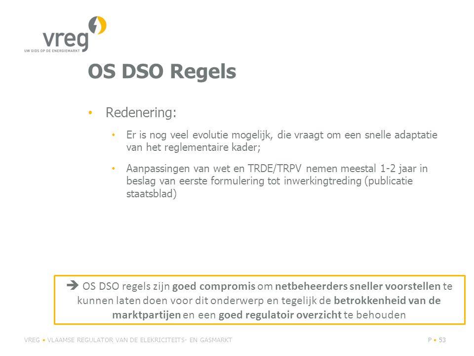 OS DSO Regels Redenering: Er is nog veel evolutie mogelijk, die vraagt om een snelle adaptatie van het reglementaire kader; Aanpassingen van wet en TR