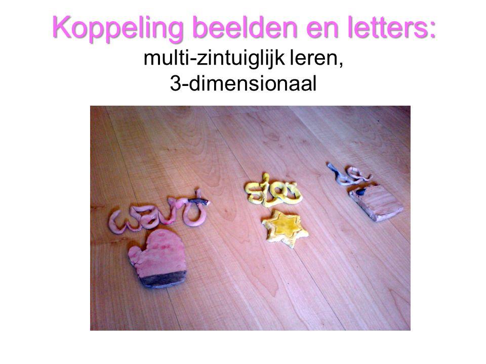 Koppeling beelden en letters: Koppeling beelden en letters: multi-zintuiglijk leren, 3-dimensionaal
