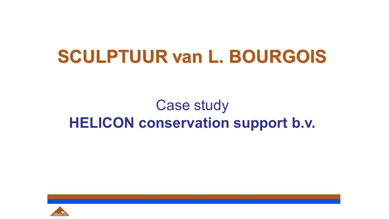 SCULPTUUR van L. BOURGOIS Case study HELICON conservation support b.v.