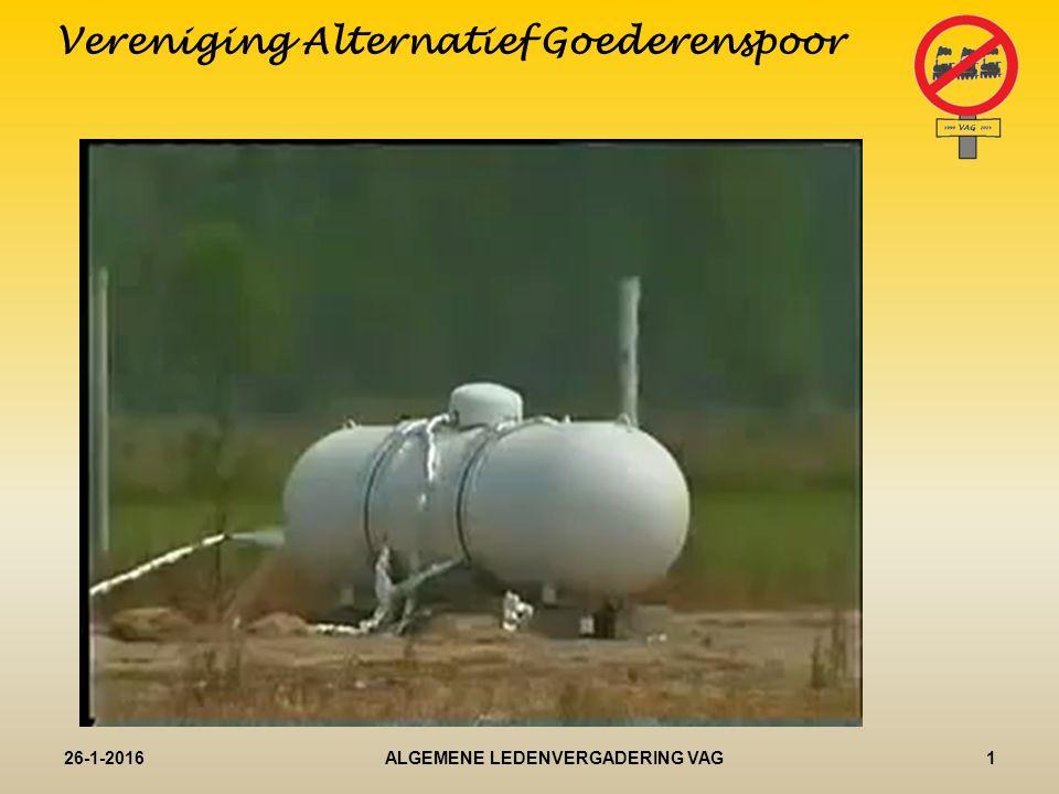 Opening Vereniging Alternatief Goederenspoor 26-1-20161ALGEMENE LEDENVERGADERING VAG