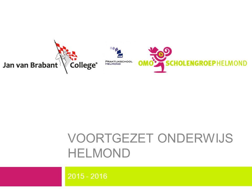 VOORTGEZET ONDERWIJS HELMOND 2015 - 2016