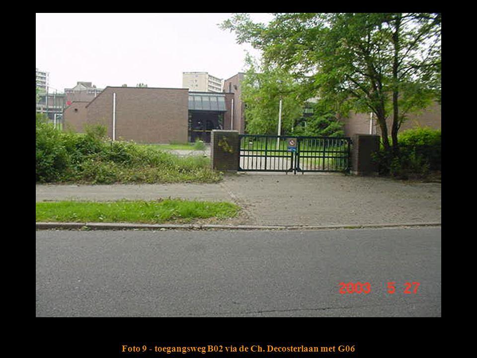 Foto 9 - toegangsweg B02 via de Ch. Decosterlaan met G06