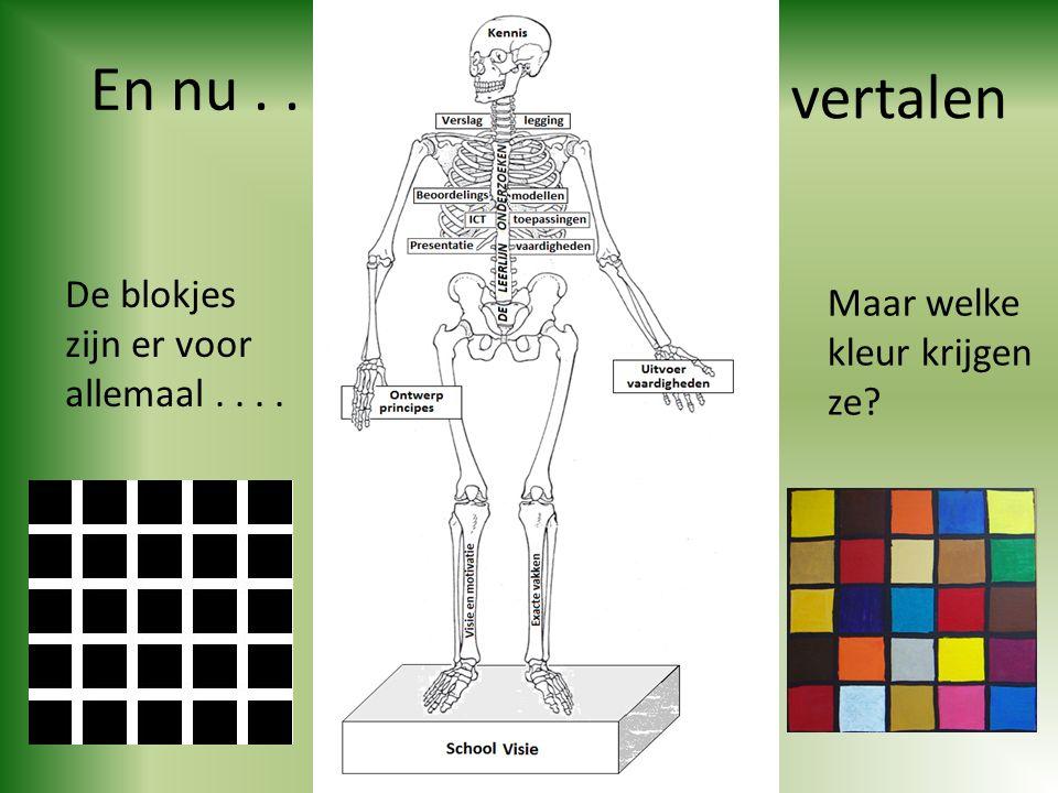 En nu.. De blokjes zijn er voor allemaal.... Maar welke kleur krijgen ze? vertalen