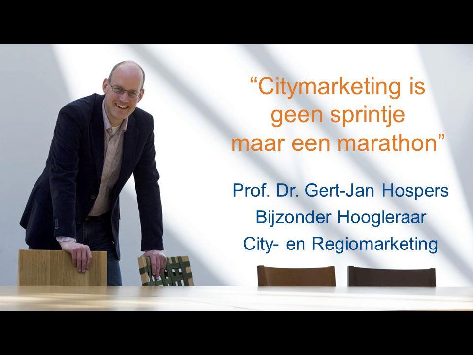 Citymarketing is geen sprintje maar een marathon Prof.