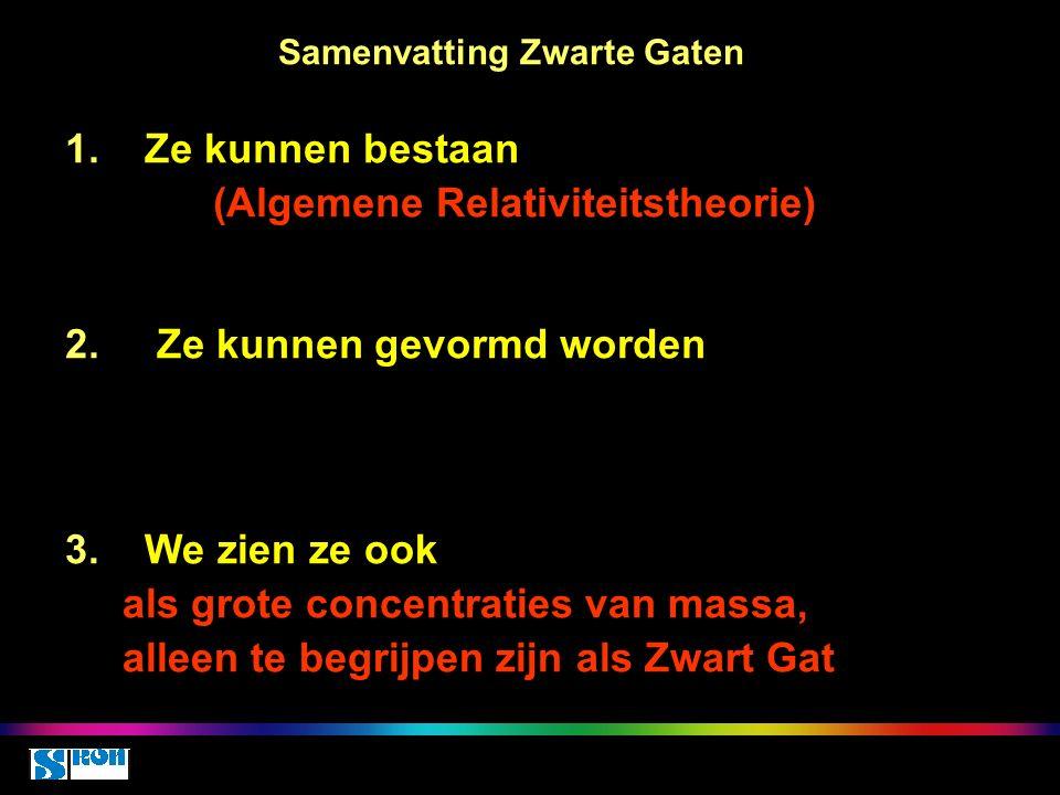 Samenvatting Zwarte Gaten 1.Ze kunnen bestaan (Algemene Relativiteitstheorie) 2.