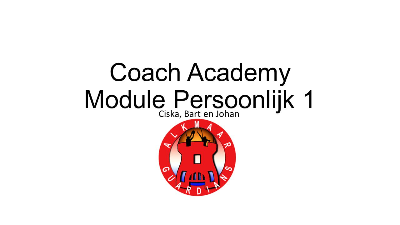 Coach Academy Module Persoonlijk 1 Ciska, Bart en Johan