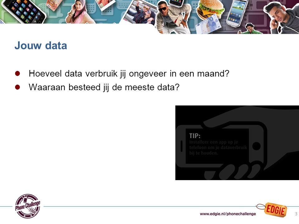 l Hoeveel data verbruik jij ongeveer in een maand.