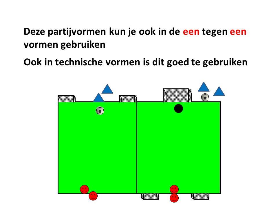 Deze partijvormen kun je ook in de een tegen een vormen gebruiken Ook in technische vormen is dit goed te gebruiken
