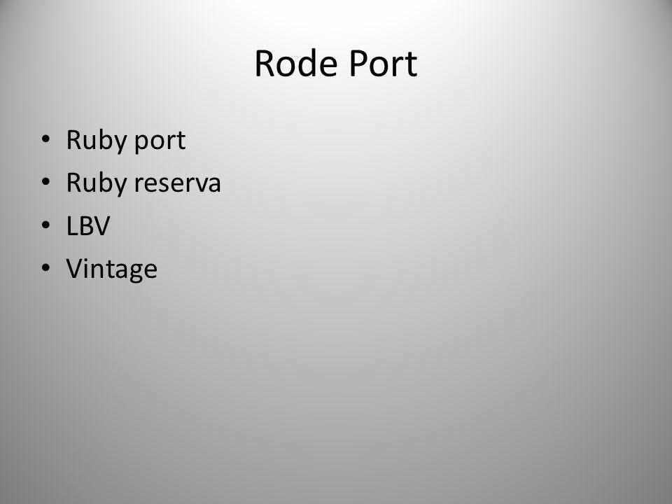 Rode Port Ruby port Ruby reserva LBV Vintage