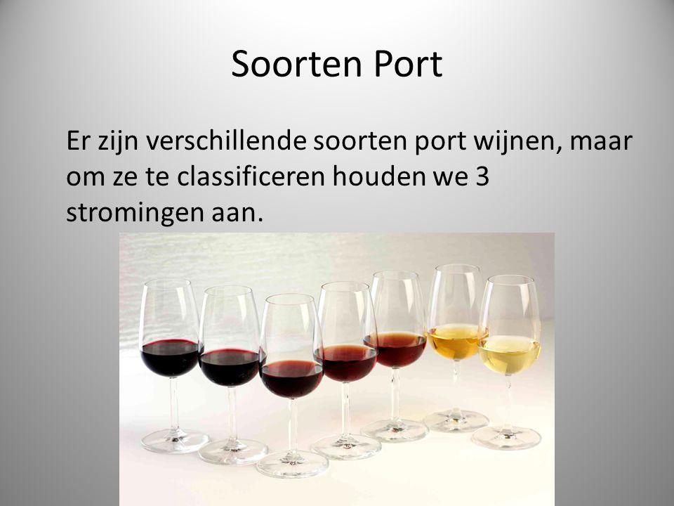 Soorten Port Er zijn verschillende soorten port wijnen, maar om ze te classificeren houden we 3 stromingen aan.