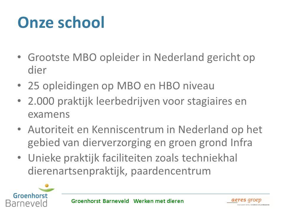 Alles over dierverzorging leer je in Barneveld Onze school Grootste MBO opleider in Nederland gericht op dier 25 opleidingen op MBO en HBO niveau 2.00