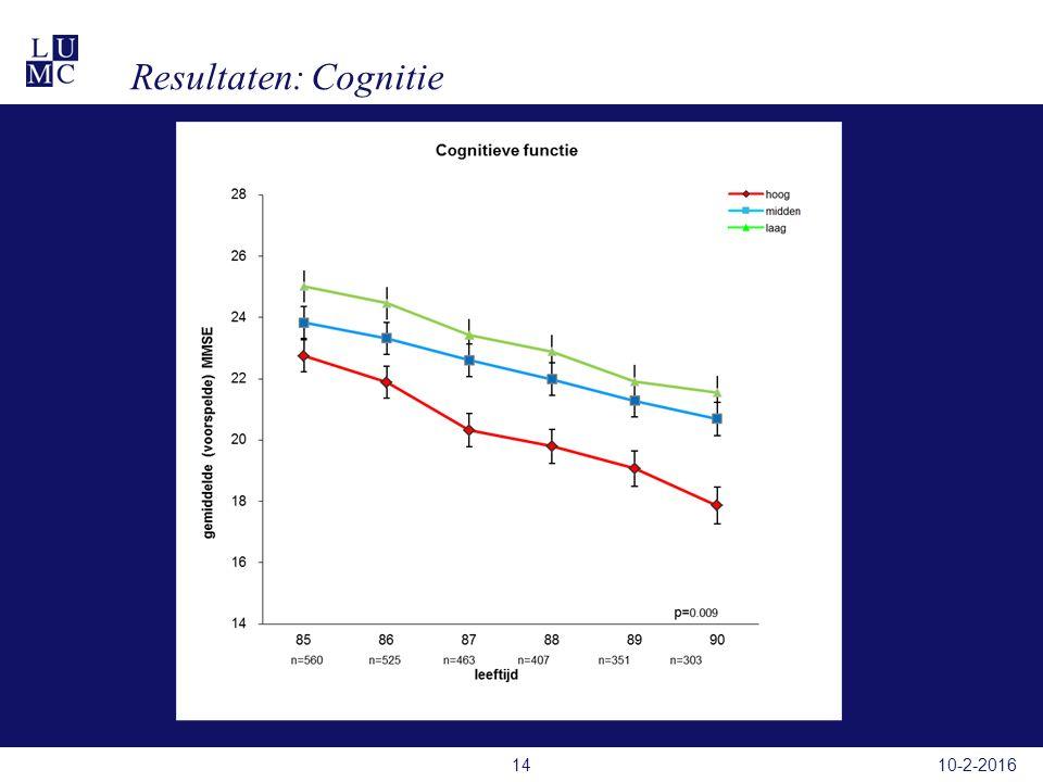 Resultaten: Cognitie 10-2-201614