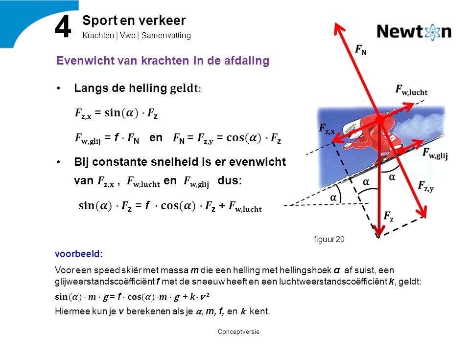 Krachten | Vwo | Samenvatting 4 Sport en verkeer figuur 20 Conceptversie