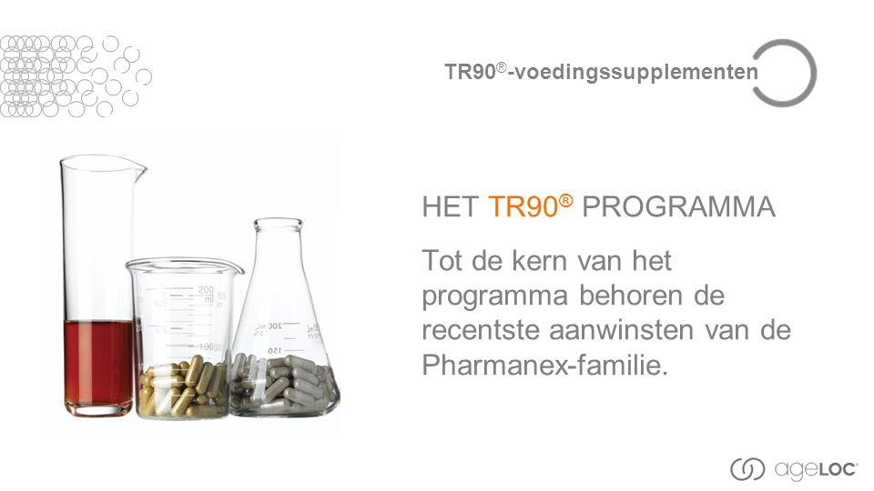 HET TR90 ® PROGRAMMA Tot de kern van het programma behoren de recentste aanwinsten van de Pharmanex-familie.