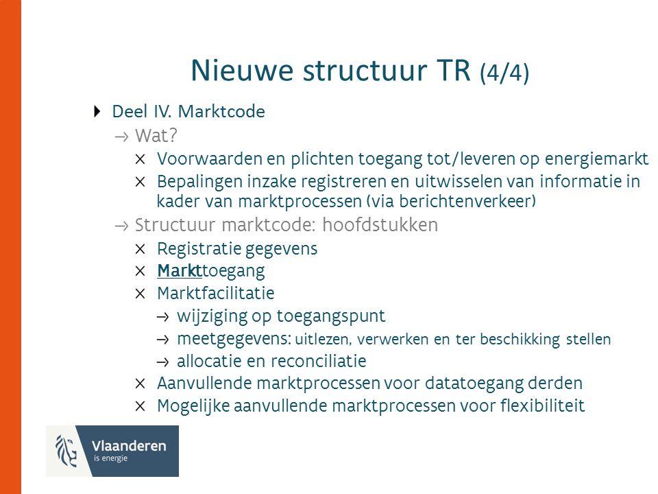 Nieuwe structuur TR (4/4) Deel IV. Marktcode Wat.