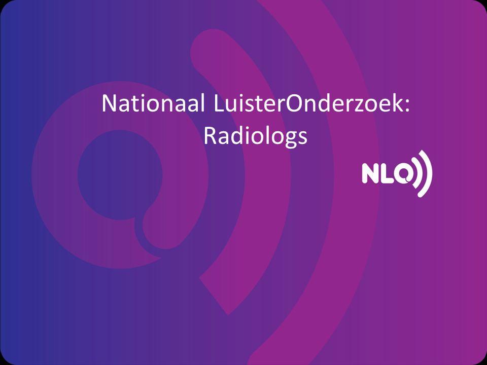 Nationaal LuisterOnderzoek: Radiologs