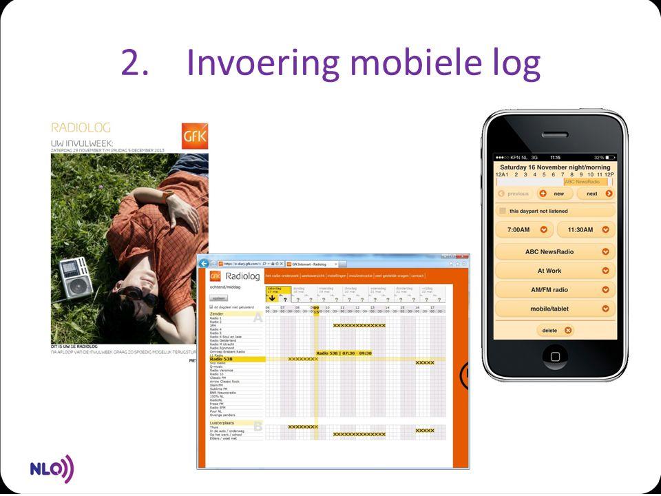 2.Invoering mobiele log
