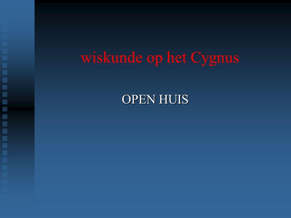 wiskunde op het Cygnus OPEN HUIS