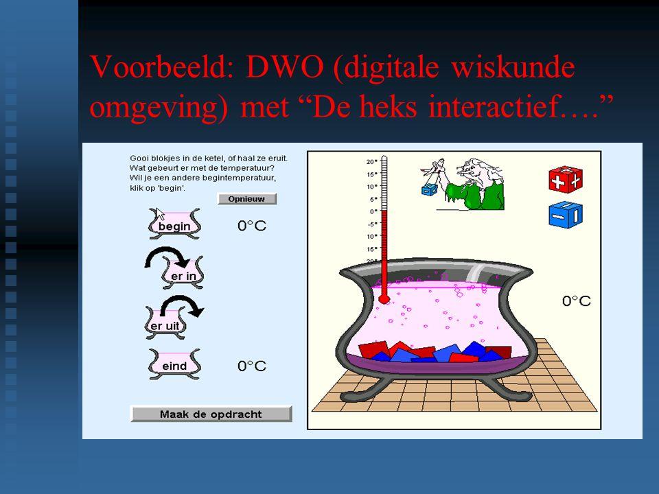 Voorbeeld: DWO (digitale wiskunde omgeving) met De heks interactief….