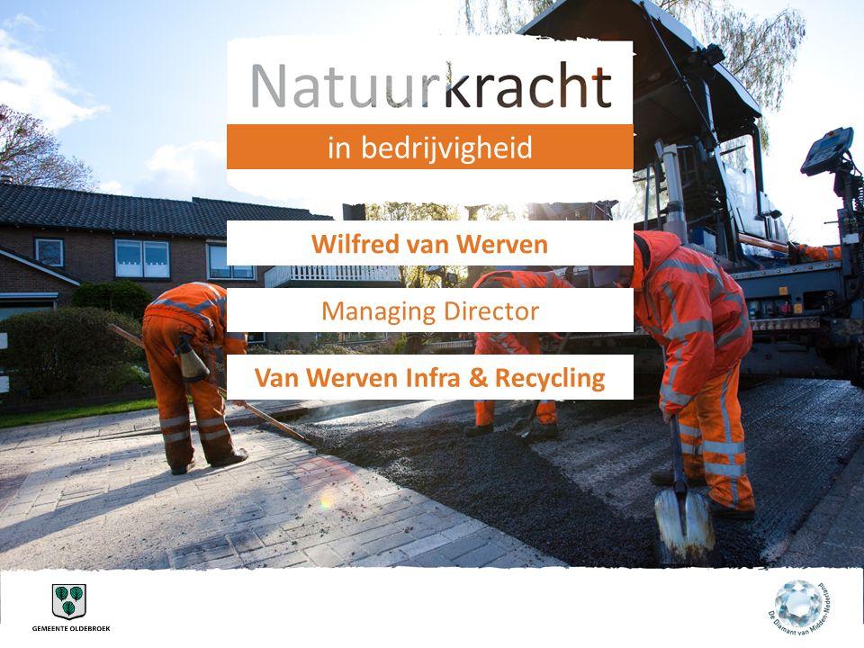 in bedrijvigheid Wilfred van Werven Managing Director Van Werven Infra & Recycling