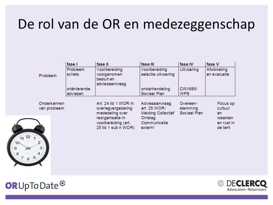 De rol van de OR en medezeggenschap