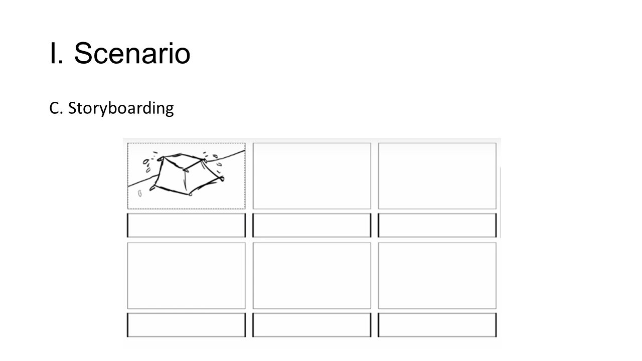 C. Storyboarding