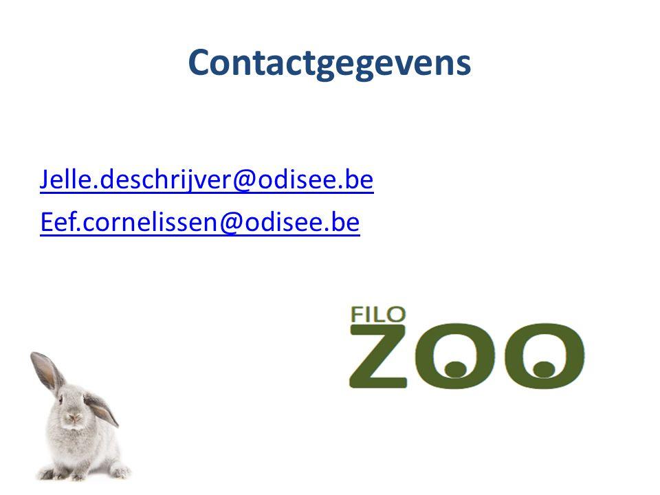 Contactgegevens Jelle.deschrijver@odisee.be Eef.cornelissen@odisee.be