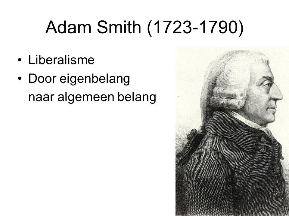 Adam Smith (1723-1790) Liberalisme Door eigenbelang naar algemeen belang
