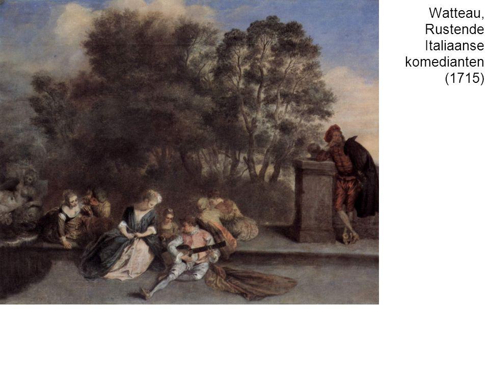 Watteau, Rustende Italiaanse komedianten (1715)