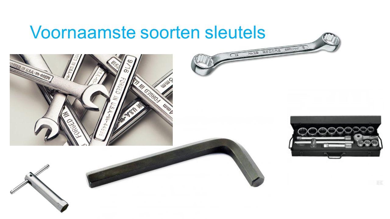 Voornaamste soorten sleutels