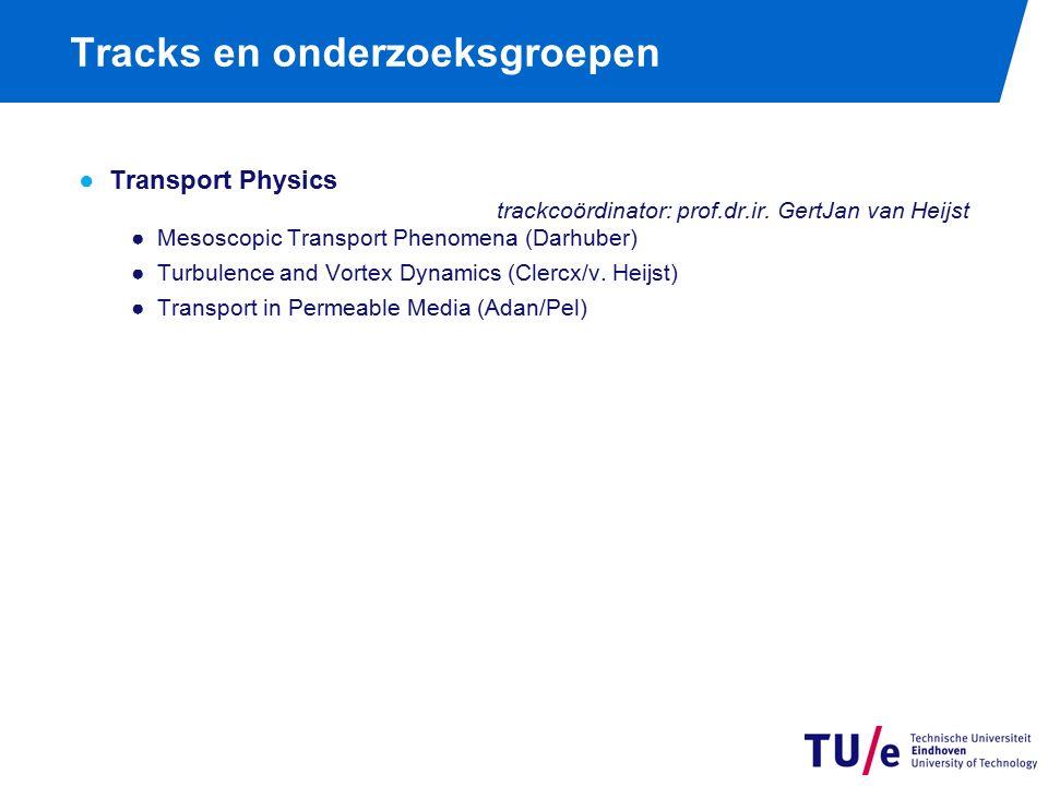 Tracks en onderzoeksgroepen ●Transport Physics trackcoördinator: prof.dr.ir.