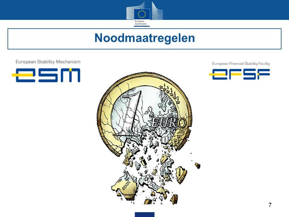 8 De oorzaken van de crisis De antwoorden vanuit de EU Noodmaatregelen De Bankenunie De coördinatie van het economische beleid En nu.