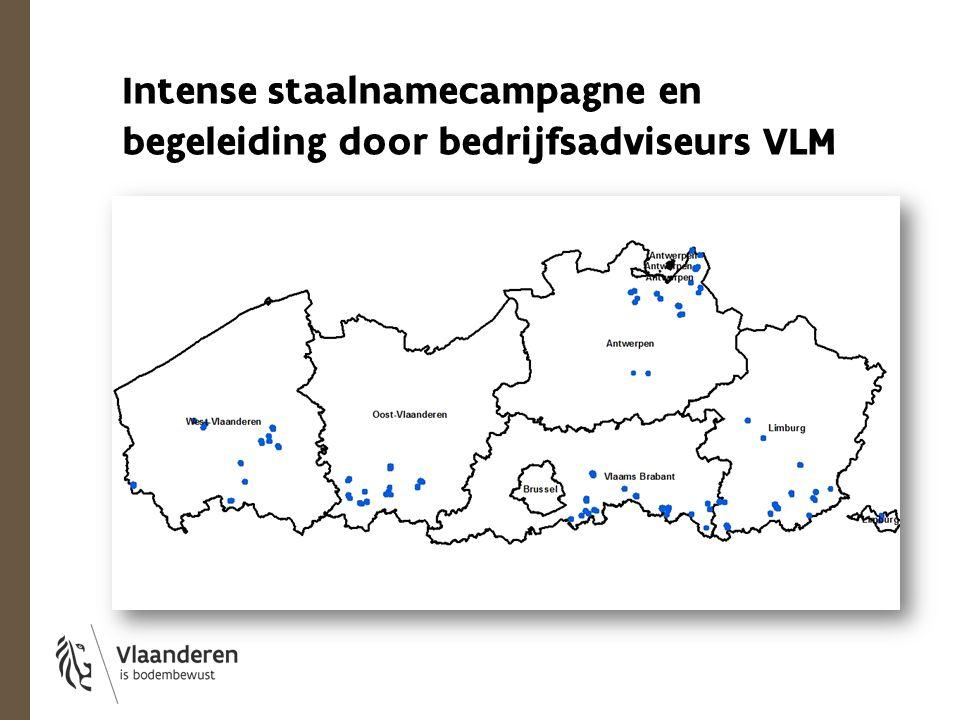 Intense staalnamecampagne en begeleiding door bedrijfsadviseurs VLM
