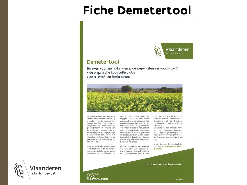 Fiche Demetertool