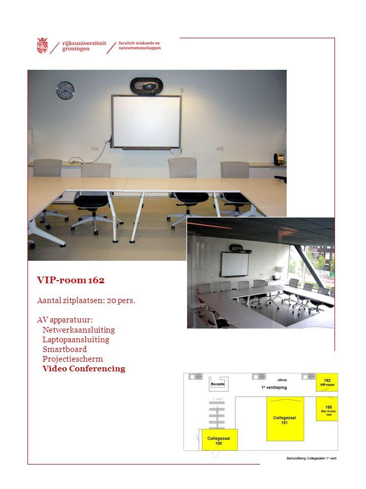 VIP-room 162 Aantal zitplaatsen: 20 pers.