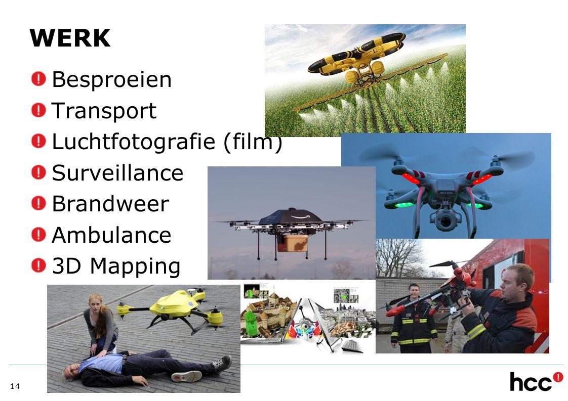 WERK Besproeien Transport Luchtfotografie (film) Surveillance Brandweer Ambulance 3D Mapping 14