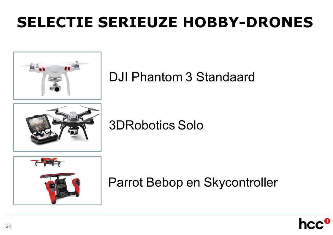 SELECTIE SERIEUZE HOBBY-DRONES DJI Phantom 3 Standaard 3DRobotics Solo Parrot Bebop en Skycontroller 24
