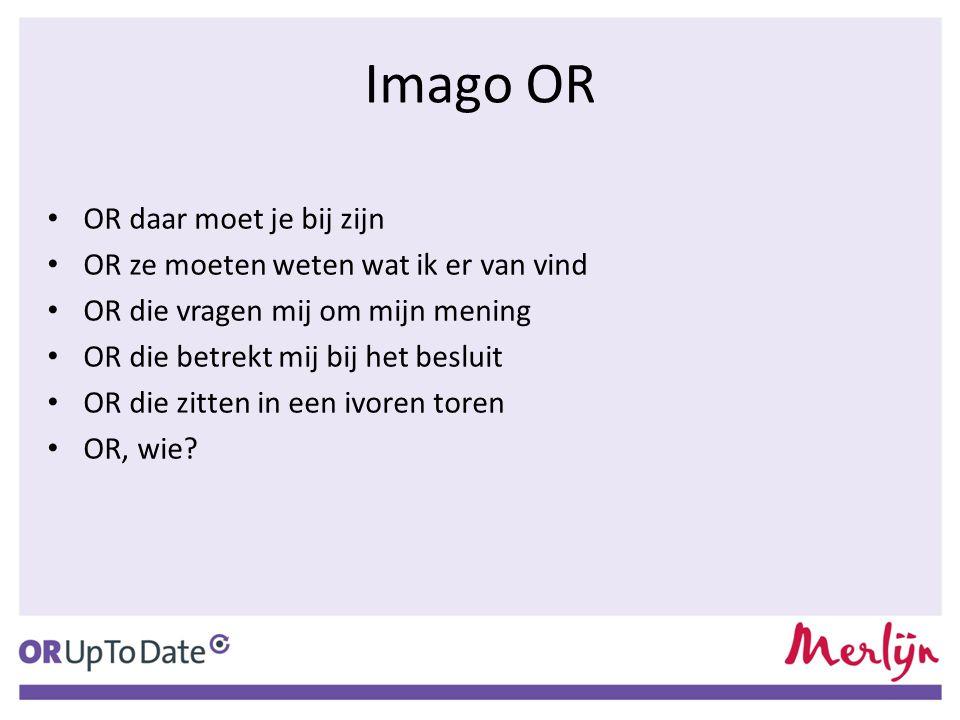 Imago OR OR daar moet je bij zijn OR ze moeten weten wat ik er van vind OR die vragen mij om mijn mening OR die betrekt mij bij het besluit OR die zit