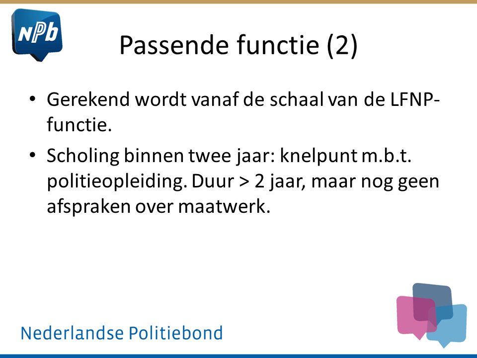 Passende functie (2) Gerekend wordt vanaf de schaal van de LFNP- functie.