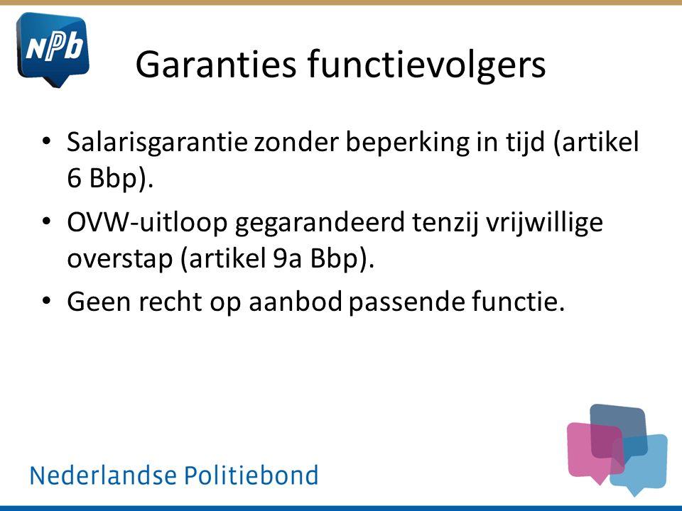 Garanties functievolgers Salarisgarantie zonder beperking in tijd (artikel 6 Bbp).