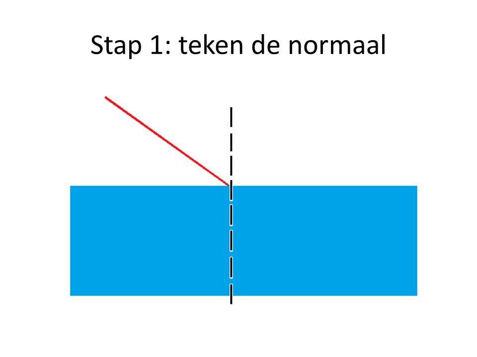 Stap 1: teken de normaal