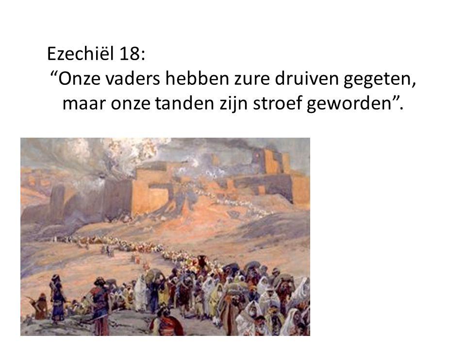 Ezechiël 18: Onze vaders hebben zure druiven gegeten, maar onze tanden zijn stroef geworden .