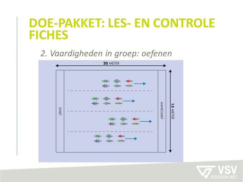 DOE-PAKKET: LES- EN CONTROLE FICHES 2. Vaardigheden in groep: oefenen