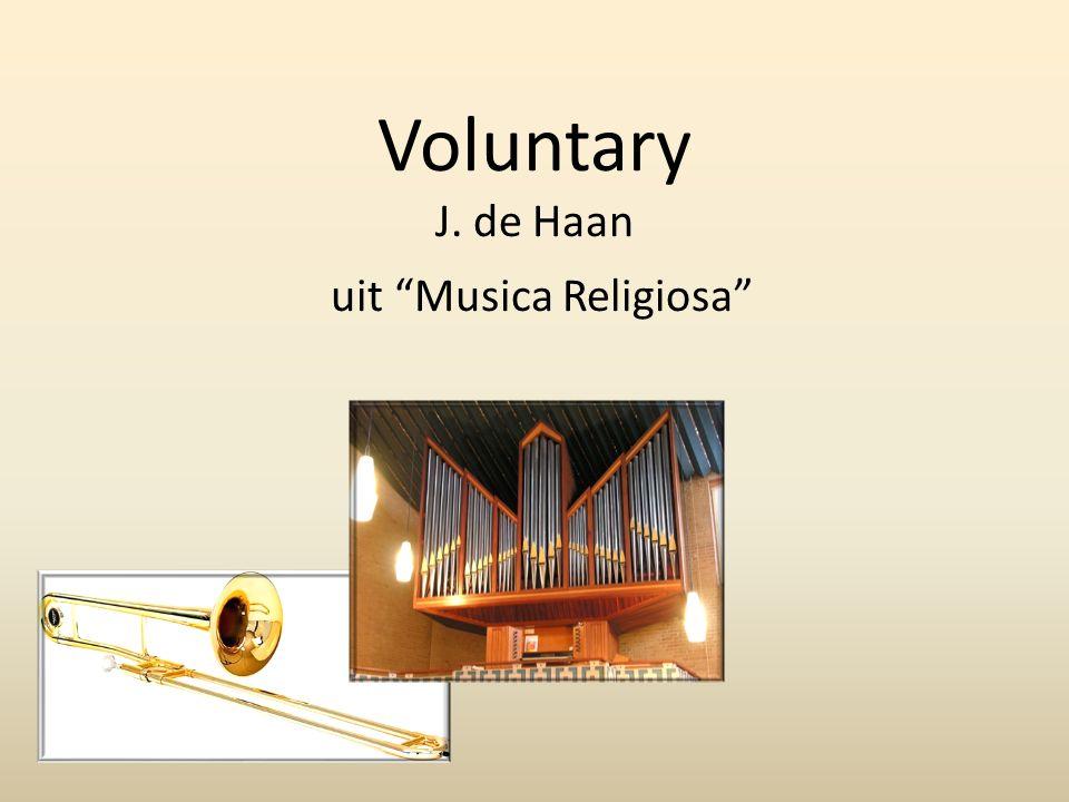 Voluntary J. de Haan uit Musica Religiosa