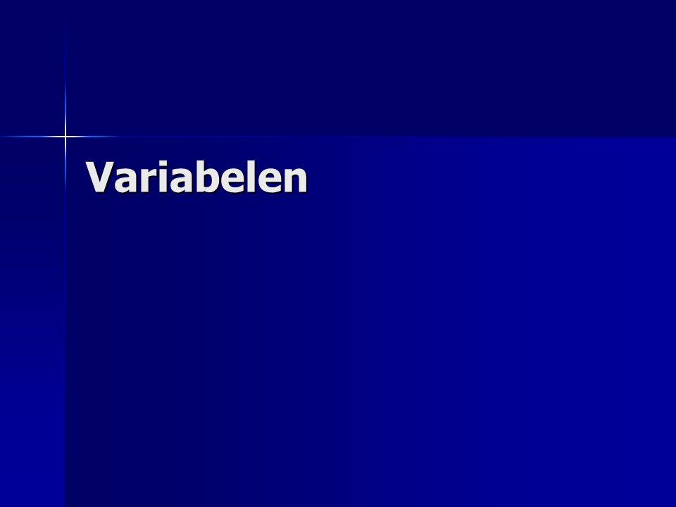Wat zijn variabelen.