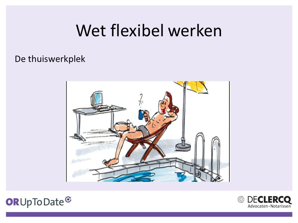 Wet flexibel werken De thuiswerkplek