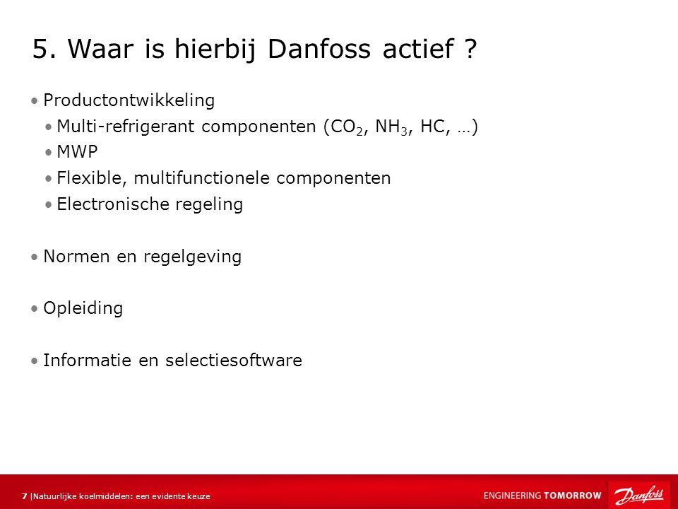 Natuurlijke koelmiddelen: een evidente keuze 7 |7 | Productontwikkeling Multi-refrigerant componenten (CO 2, NH 3, HC, …) MWP Flexible, multifunctione