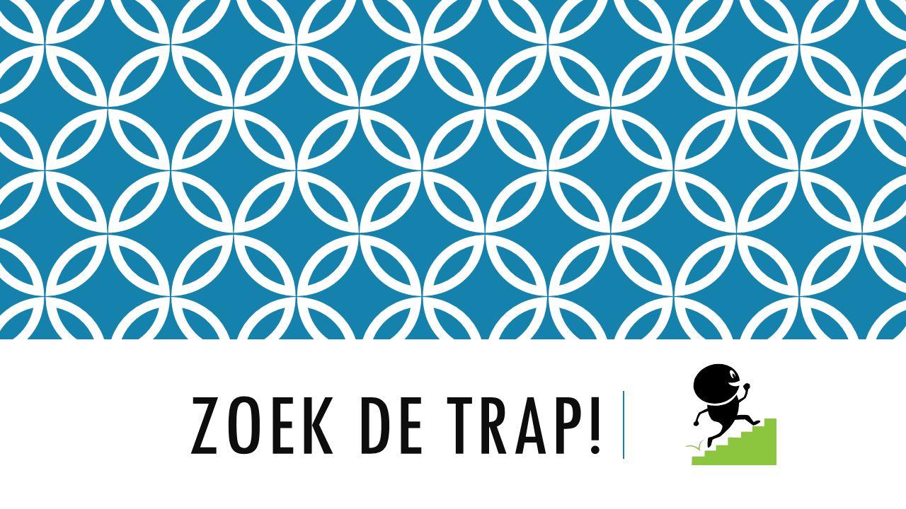 ZOEK DE TRAP!