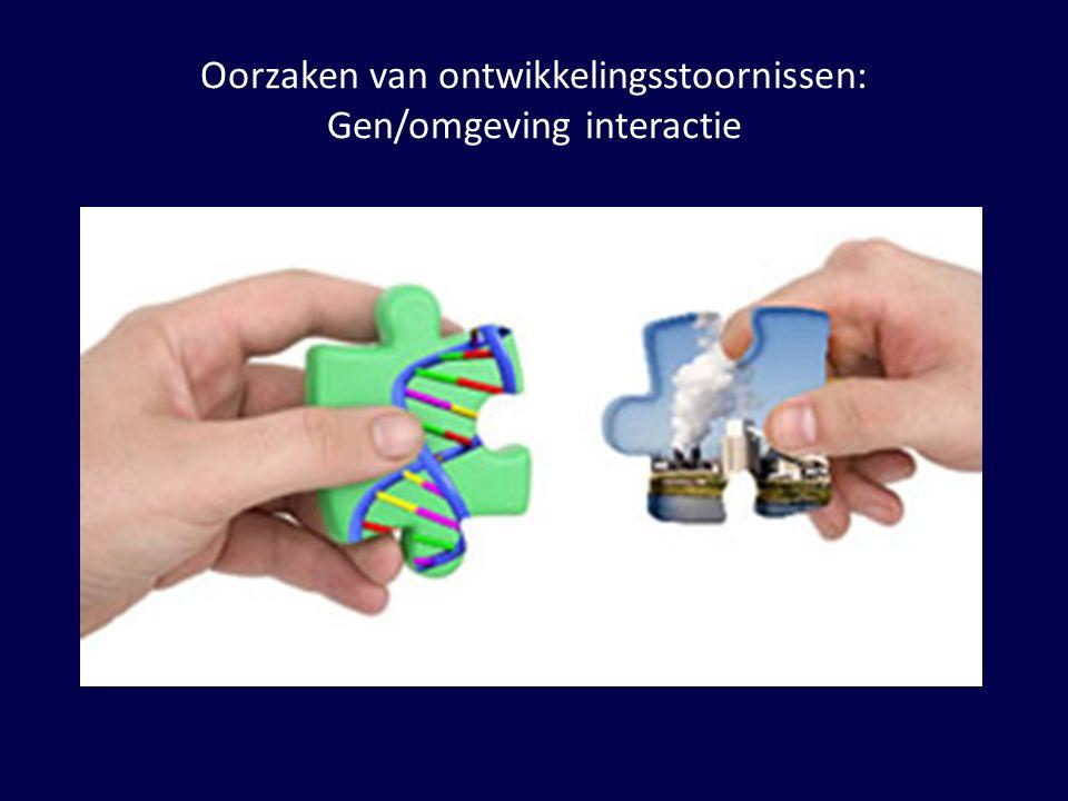 Oorzaken van ontwikkelingsstoornissen: Gen/omgeving interactie